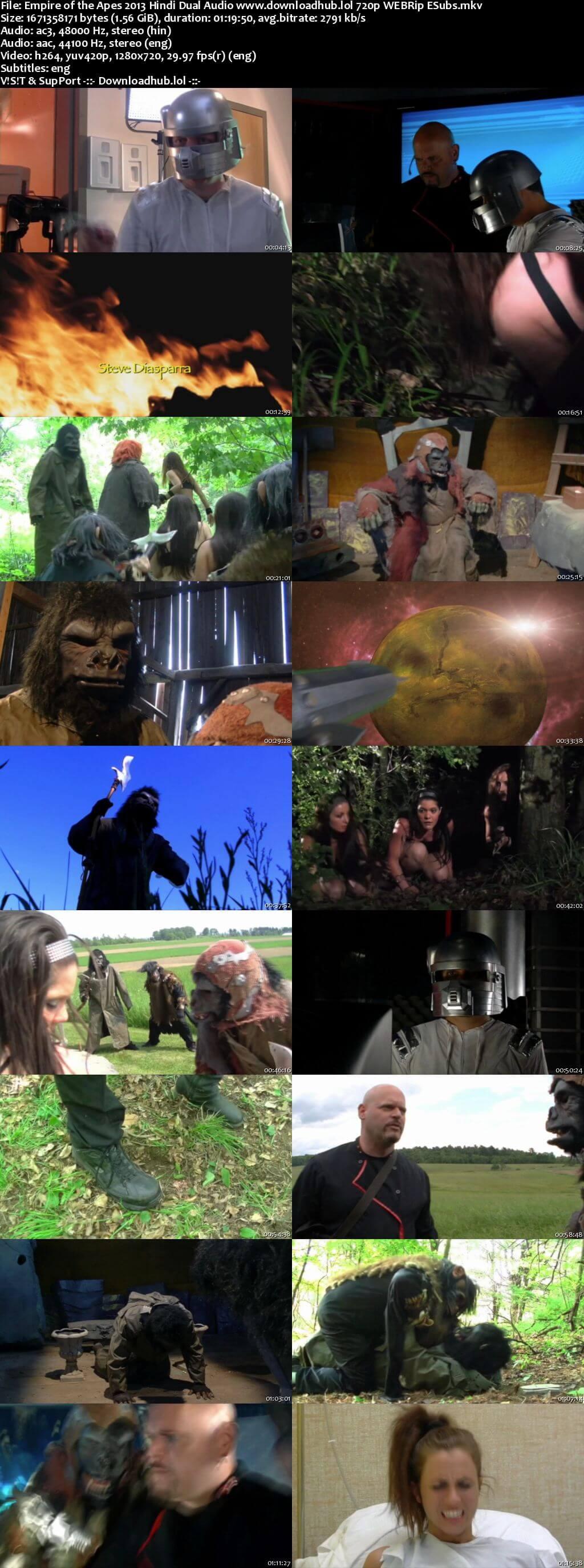 Empire of the Apes 2013 Hindi Dual Audio 720p WEBRip ESubs