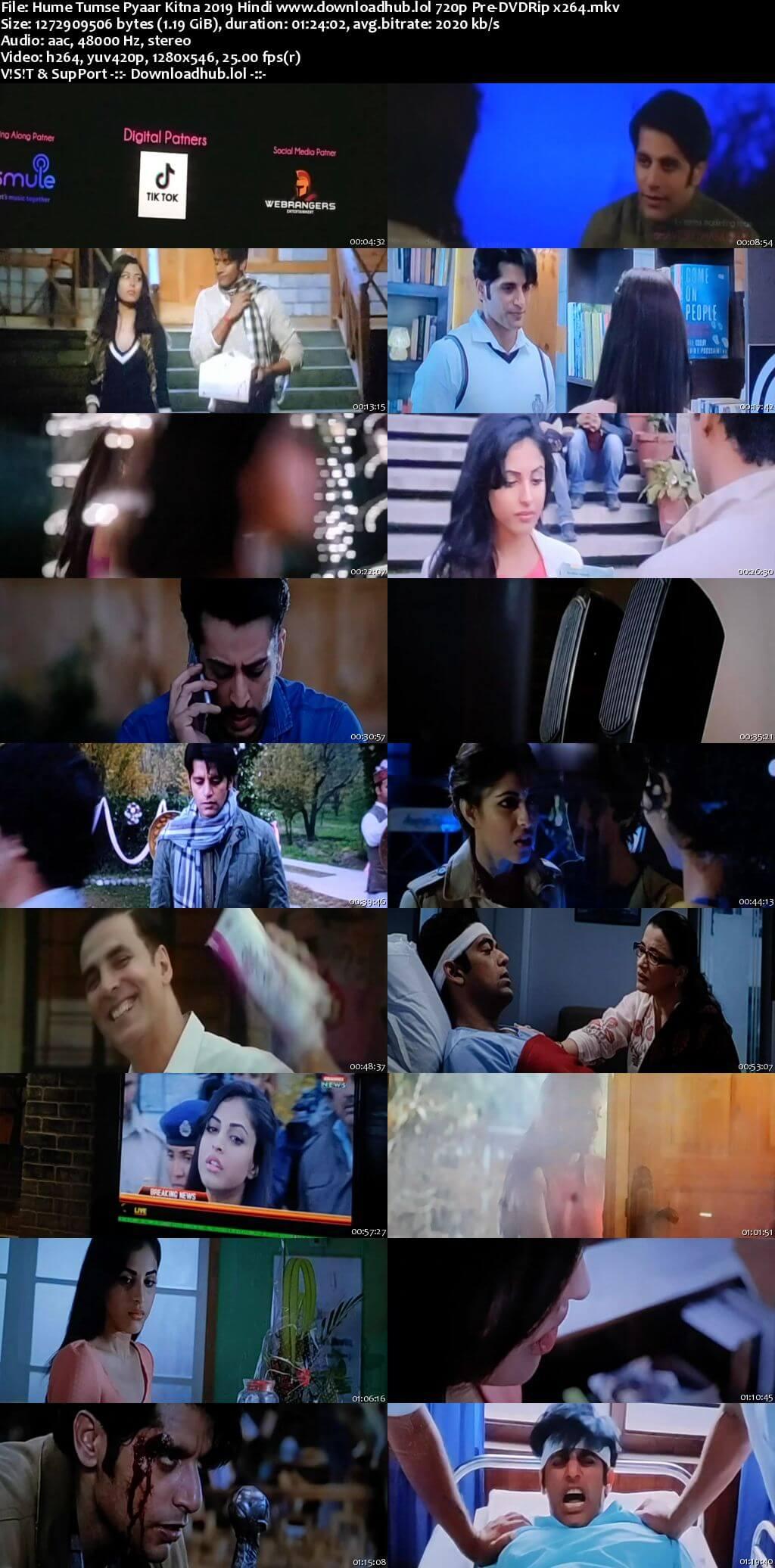 Hume Tumse Pyaar Kitna 2019 Hindi 720p Pre-DVDRip x264