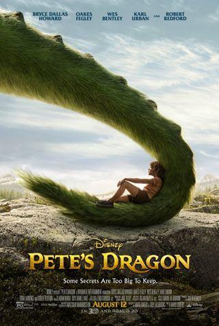 Poster of Pete's Dragon 2016 Full Hindi Dual Audio Movie Download BluRay Hd 480p