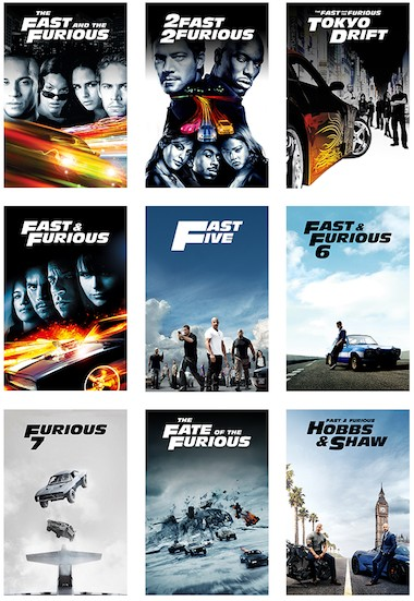 Fast and Furious Collection (2001-2017) All Movies Dual Audio Hindi Full Movie Download