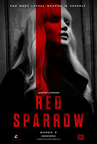 Poster of Red Sparrow 2018 Full Hindi Dual Audio Movie Download BluRay Hd 720p