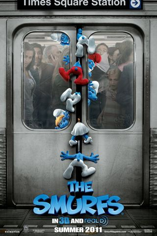 Poster of The Smurfs 2011 Full Hindi Dual Audio Movie Download BluRay Hd 720p