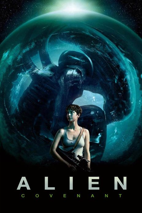 Poster of Alien: Covenant 2017 Full Hindi Dual Audio Movie Download BluRay Hd 480p