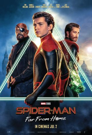 Poster of Spider-Man: Far From Home 2019 Full Hindi Dual Audio Movie Download HDTC Hd 720p