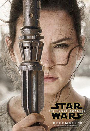 Poster of Star Wars: The Force Awakens 2015 Full Hindi Dual Audio Movie Download BluRay Hd 480p