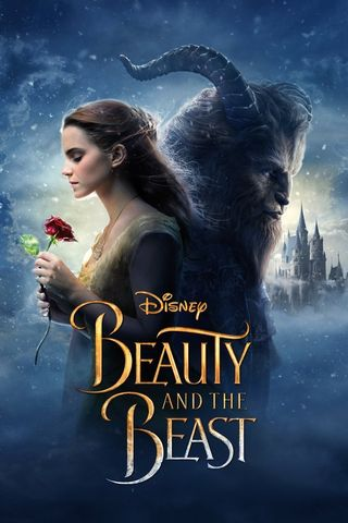 Poster of Beauty and the Beast 2017 Full Hindi Dual Audio Movie Download BluRay Hd 480p