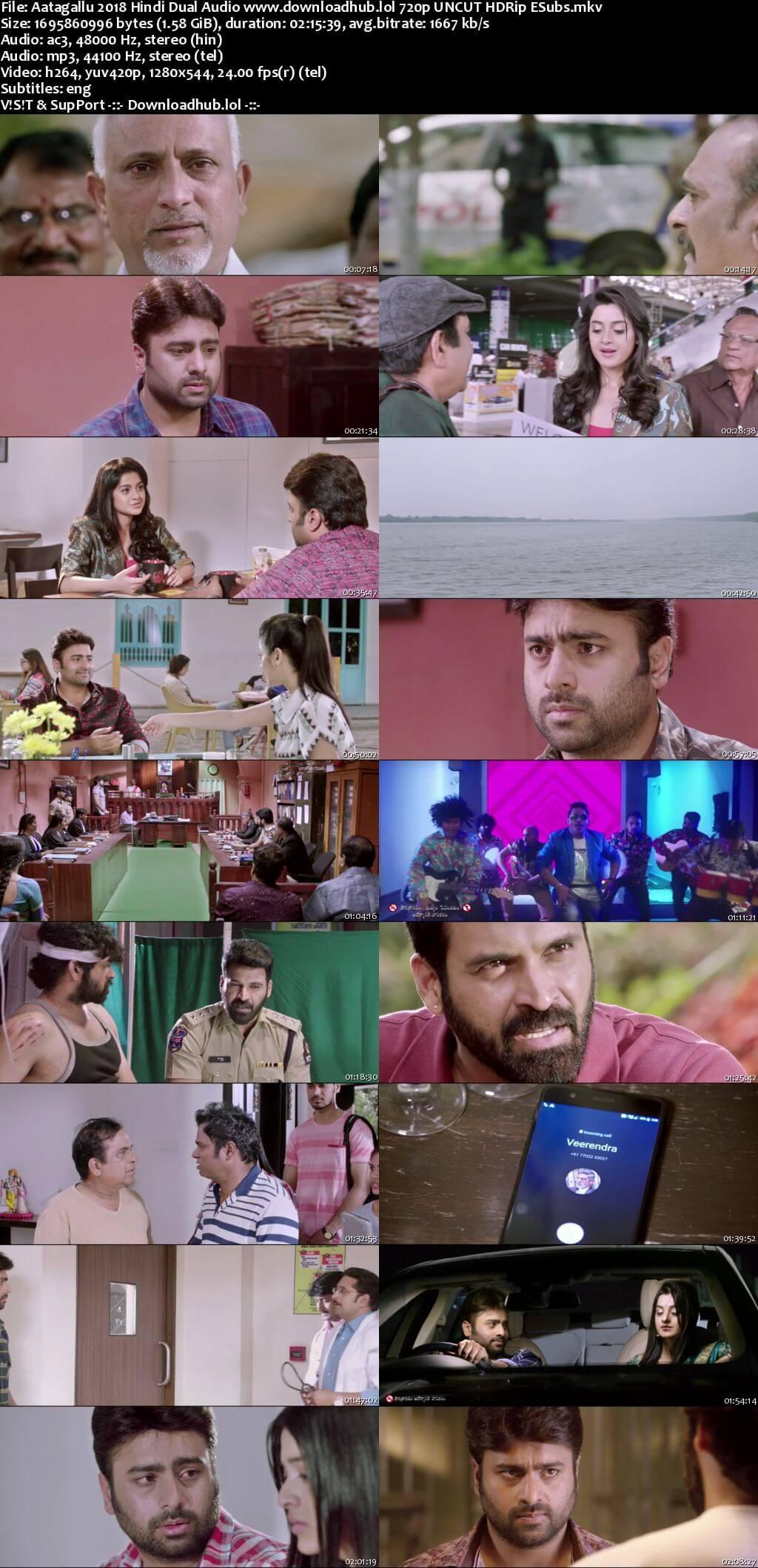 Aatagallu 2018 Hindi Dual Audio 720p UNCUT HDRip ESubs