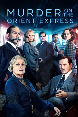Poster of Murder on the Orient Express 2017 Full Hindi Dual Audio Movie Download BluRay Hd 480p