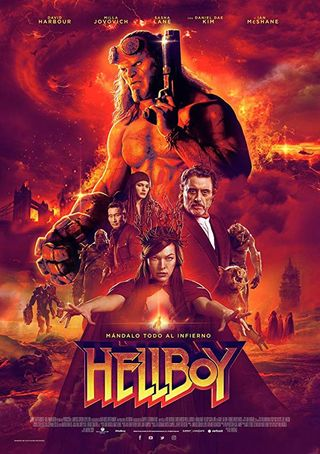 Poster of Hellboy 2019 Full Hindi Dual Audio Movie Download HDRip 720p