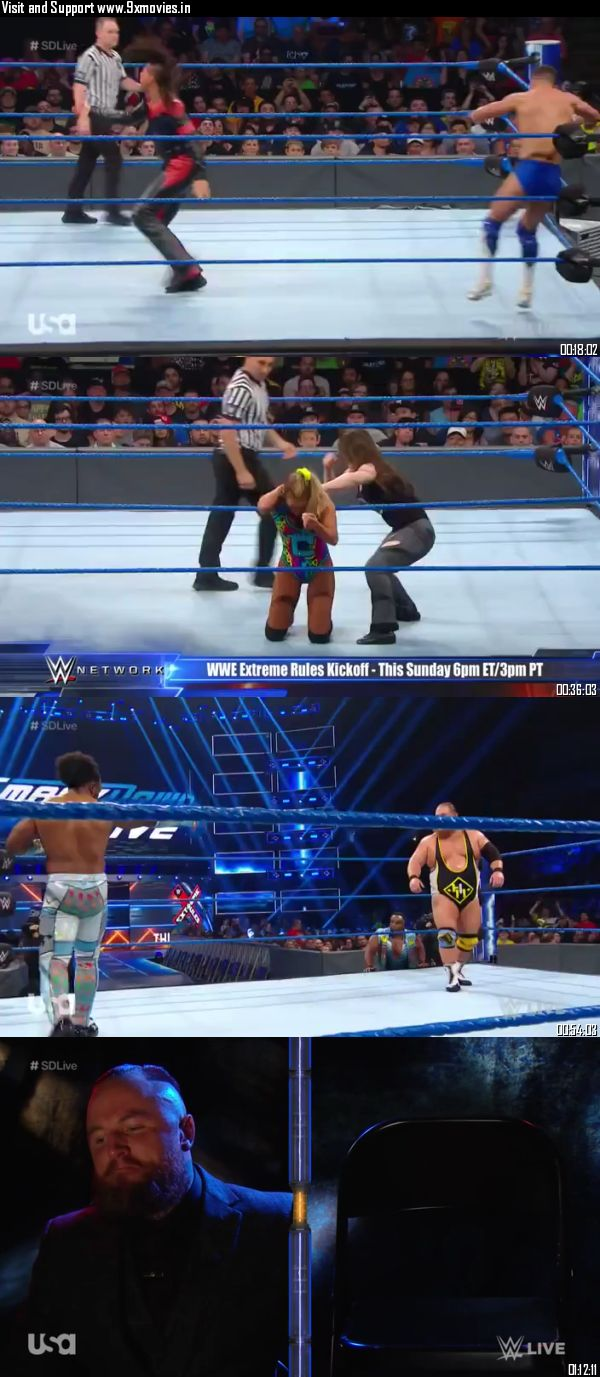 WWE Smackdown Live 09 July 2019 HDTV 720p 480p 300MB