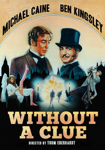 Poster of Without a Clue 1988 Full Hindi Dual Audio Movie Download BluRay Hd 720p