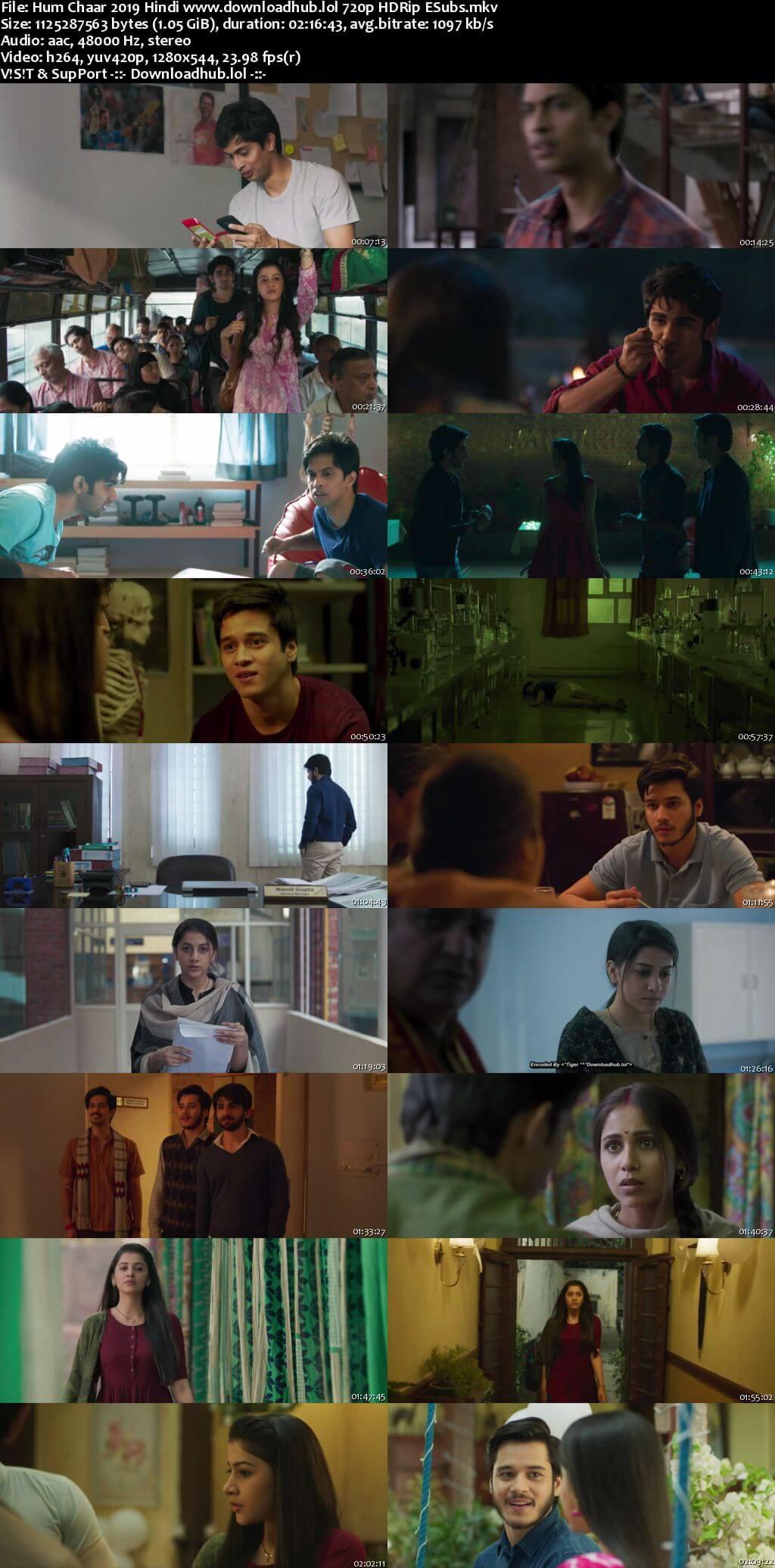 Hum Chaar 2019 Hindi 720p HDRip ESubs