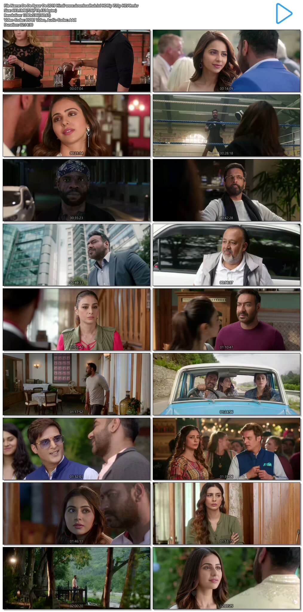 De De Pyaar De 2019 Hindi 700MB HDRip 720p HEVC