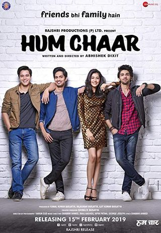 Poster of Hum Chaar 2019 Full Hindi Free Download Watch Online In HD Movie Download 480p HDRip