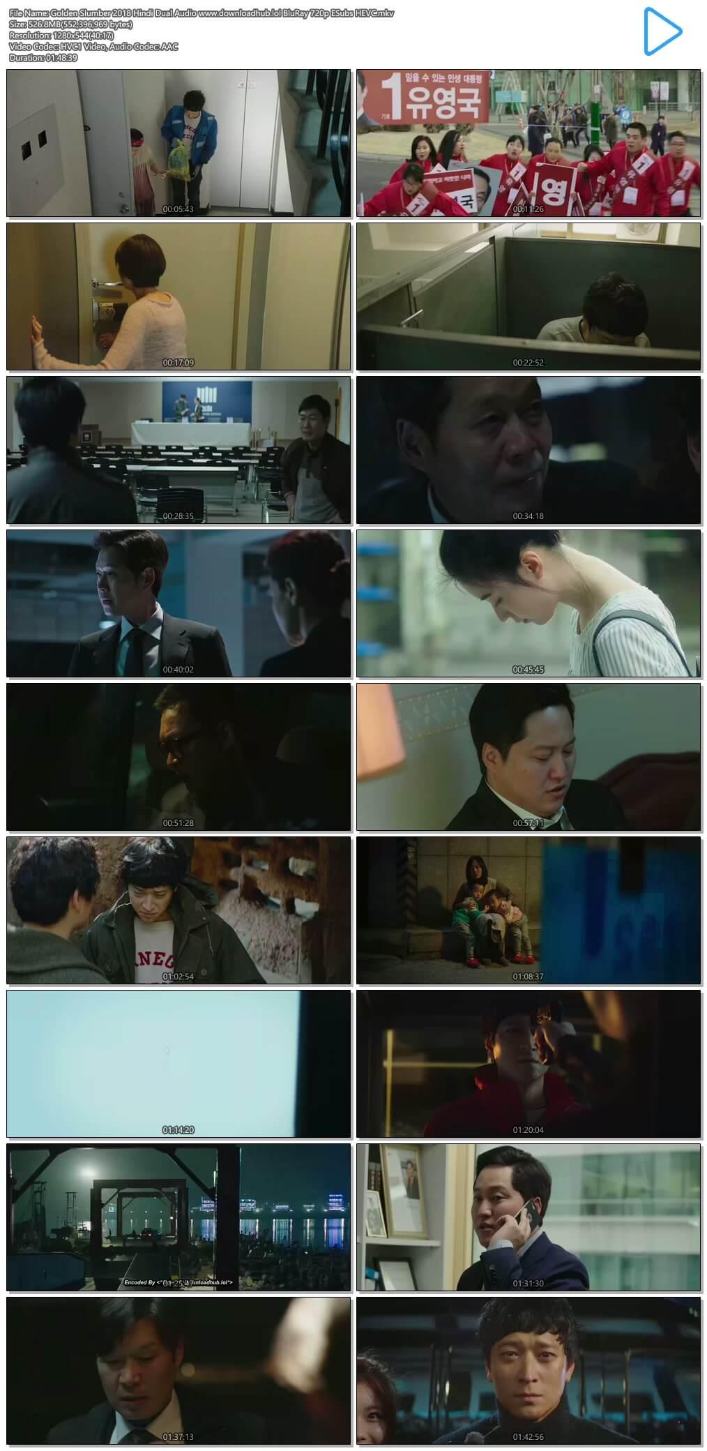 Golden Slumber 2018 Hindi Dual Audio 500MB BluRay 720p ESubs HEVC