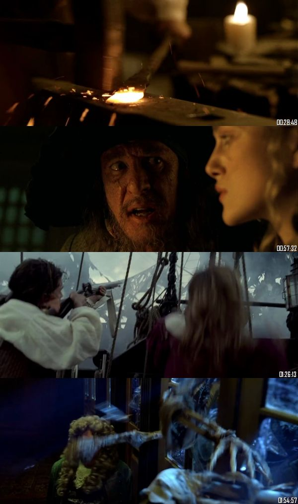 Pirates Of The Caribbean The Curse Of The Black Pearl 2003 BRRip 720p 480p Dual Audio Hindi English Full Movie Download
