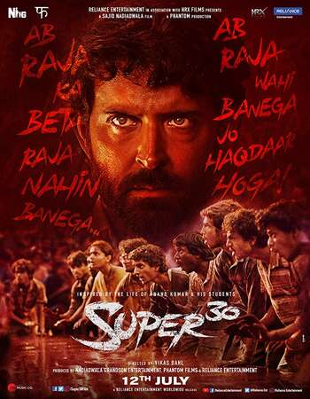 Super 30 2019 Full Hindi Movie 720p HDRip Download