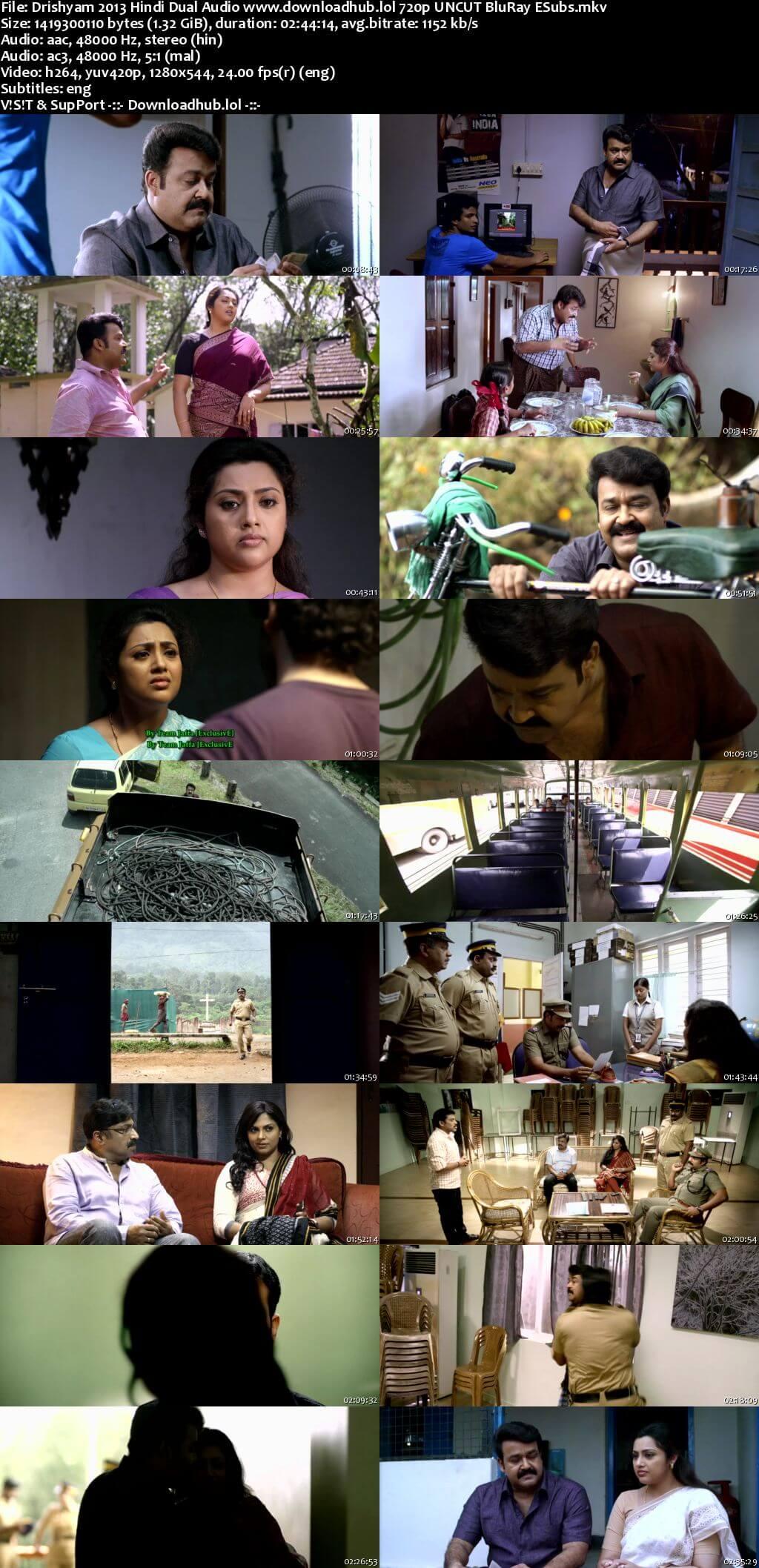 Drishyam 2013 Hindi Dual Audio 720p UNCUT BluRay ESubs