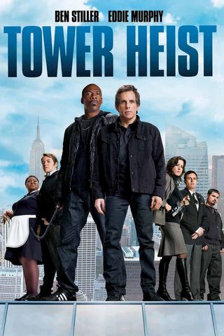 Poster of Tower Heist 2011 Full Hindi Dual Audio Movie Download BluRay Hd 720p