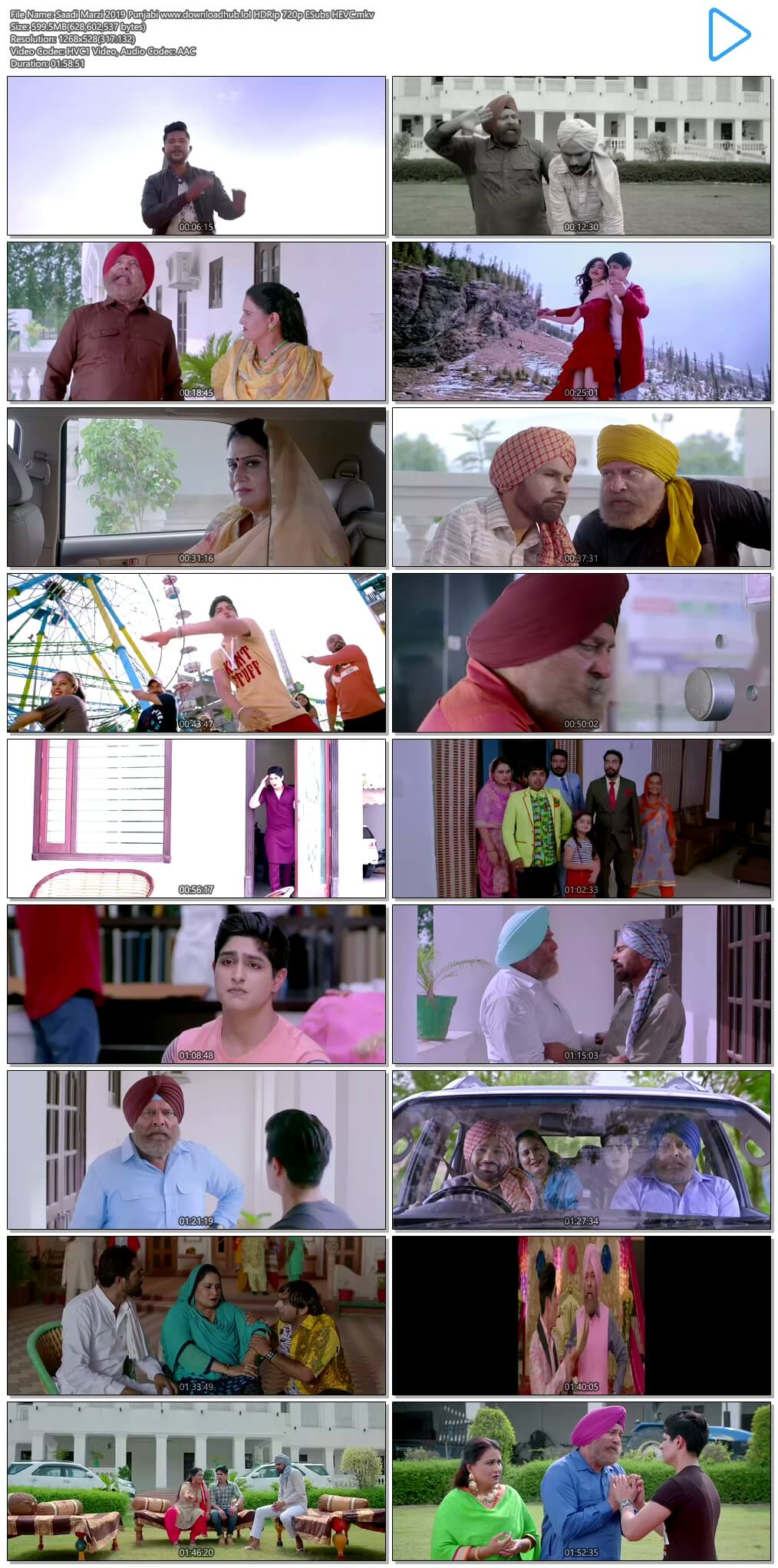 Saadi Marzi 2019 Punjabi 600MB HDRip 720p ESubs HEVC