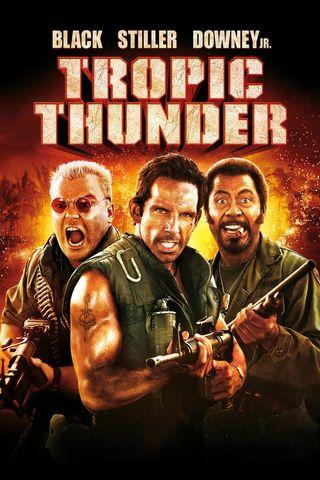 Poster of Tropic Thunder 2008 Full Hindi Dual Audio Movie Download BluRay Hd 720p