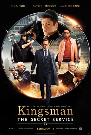 Poster of Kingsman: The Secret Service 2014 Full Hindi Dual Audio Movie Download BluRay Hd 480p