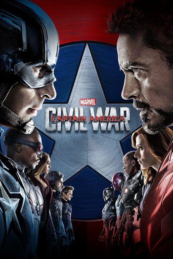 Poster of Captain America: Civil War 2016 Full Hindi Dual Audio Movie Download BluRay Hd 480p