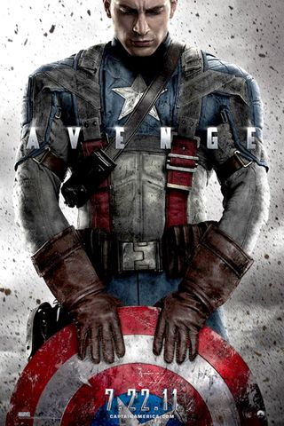 Poster of Captain America: The First Avenger 2011 Full Hindi Dual Audio Movie Download BluRay Hd 480p