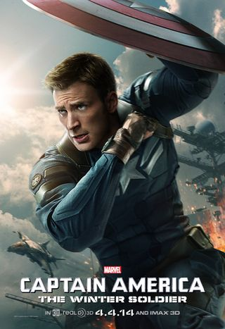 Poster of Captain America: The Winter Soldier 2014 Full Hindi Dual Audio Movie Download BluRay Hd 480p