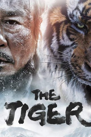 Poster of The Tiger: An Old Hunter's Tale 2015 Full Hindi Dual Audio Movie Download BluRay Hd 480p