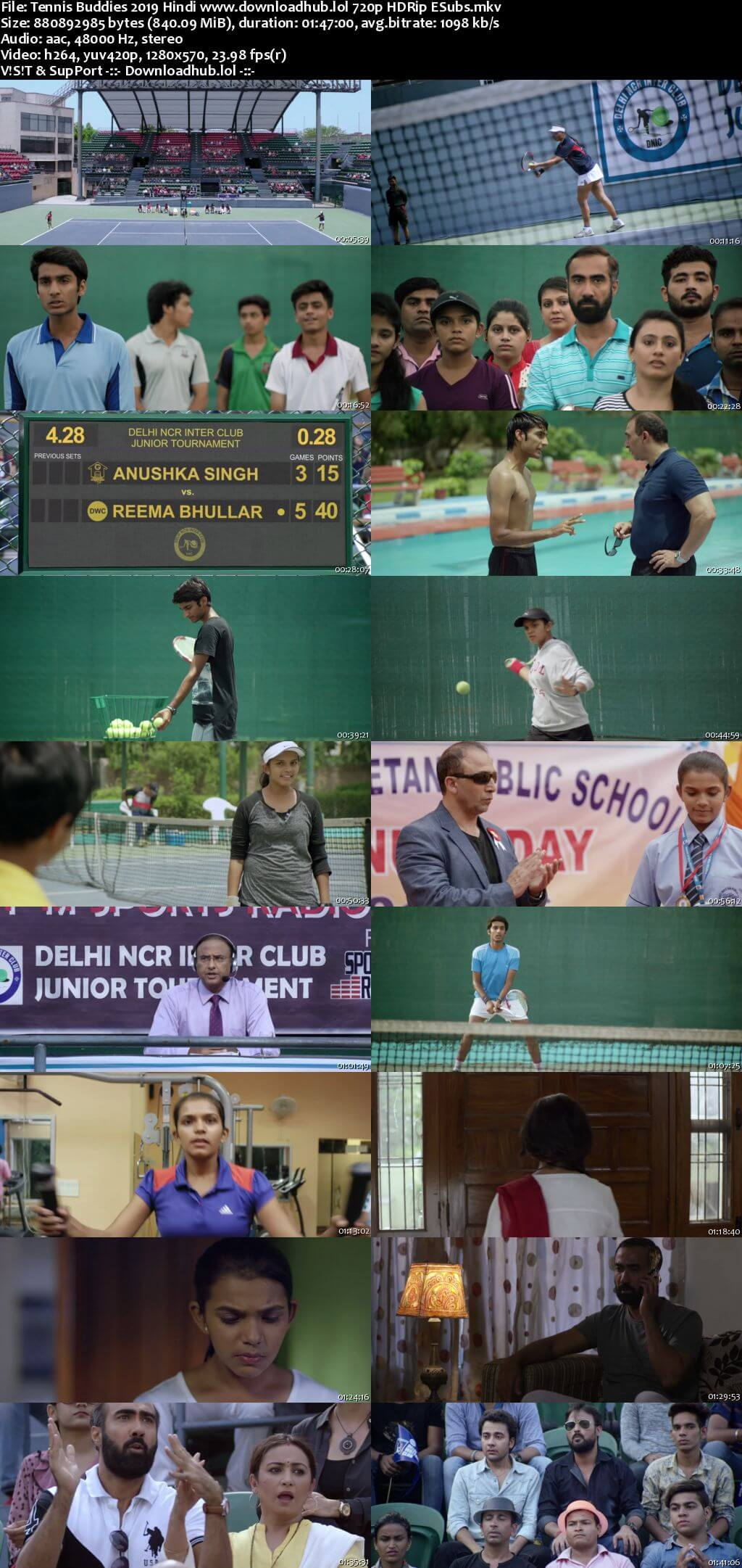 Tennis Buddies 2019 Hindi 720p HDRip ESubs