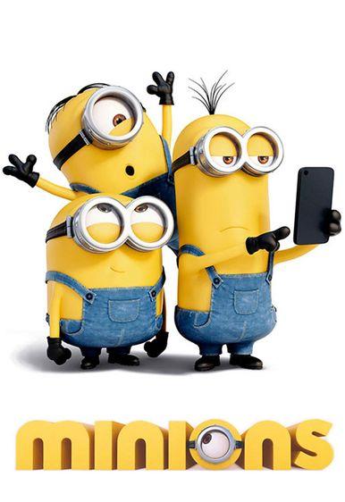 Poster of Minions 2015 Full Hindi Dual Audio Movie Download BluRay Hd 720p