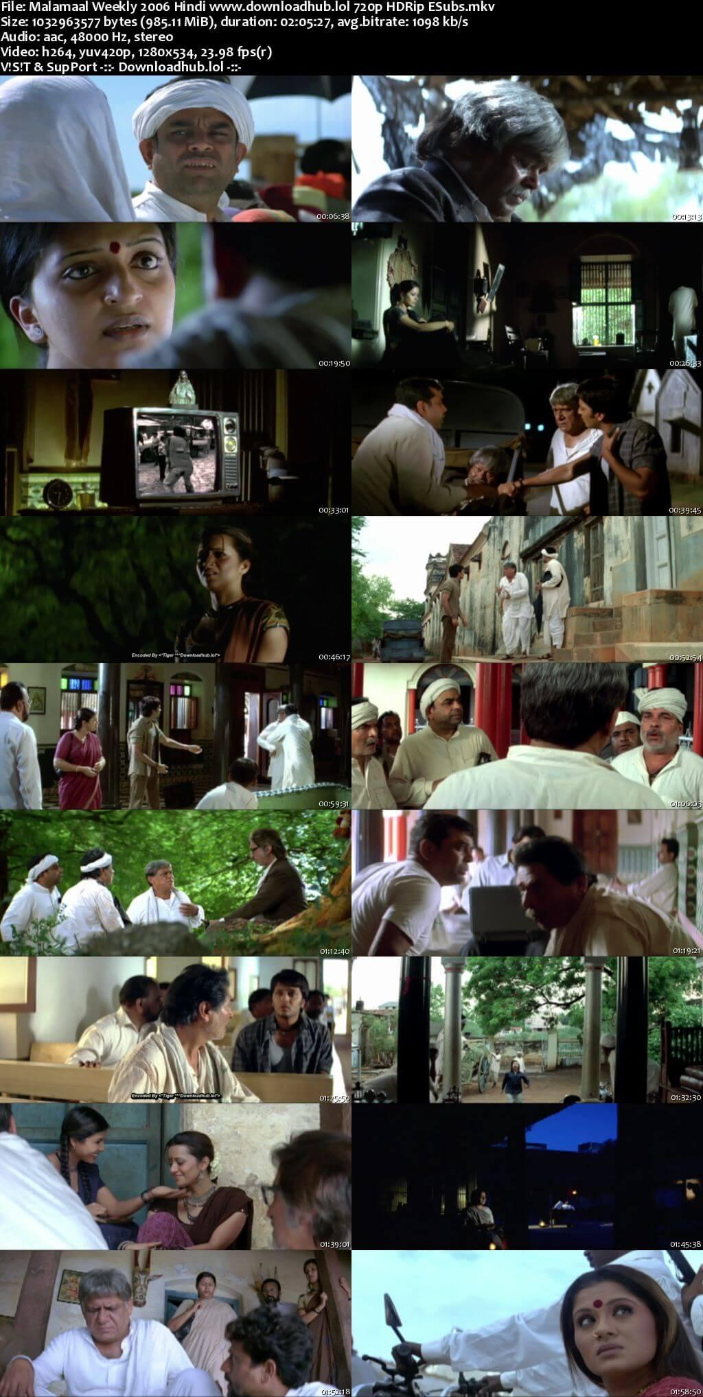 Malamaal Weekly 2006 Hindi 720p HDRip ESubs