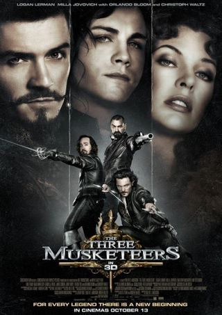 Poster of The Three Musketeers 2011 Full Hindi Dual Audio Movie Download BluRay Hd 480p