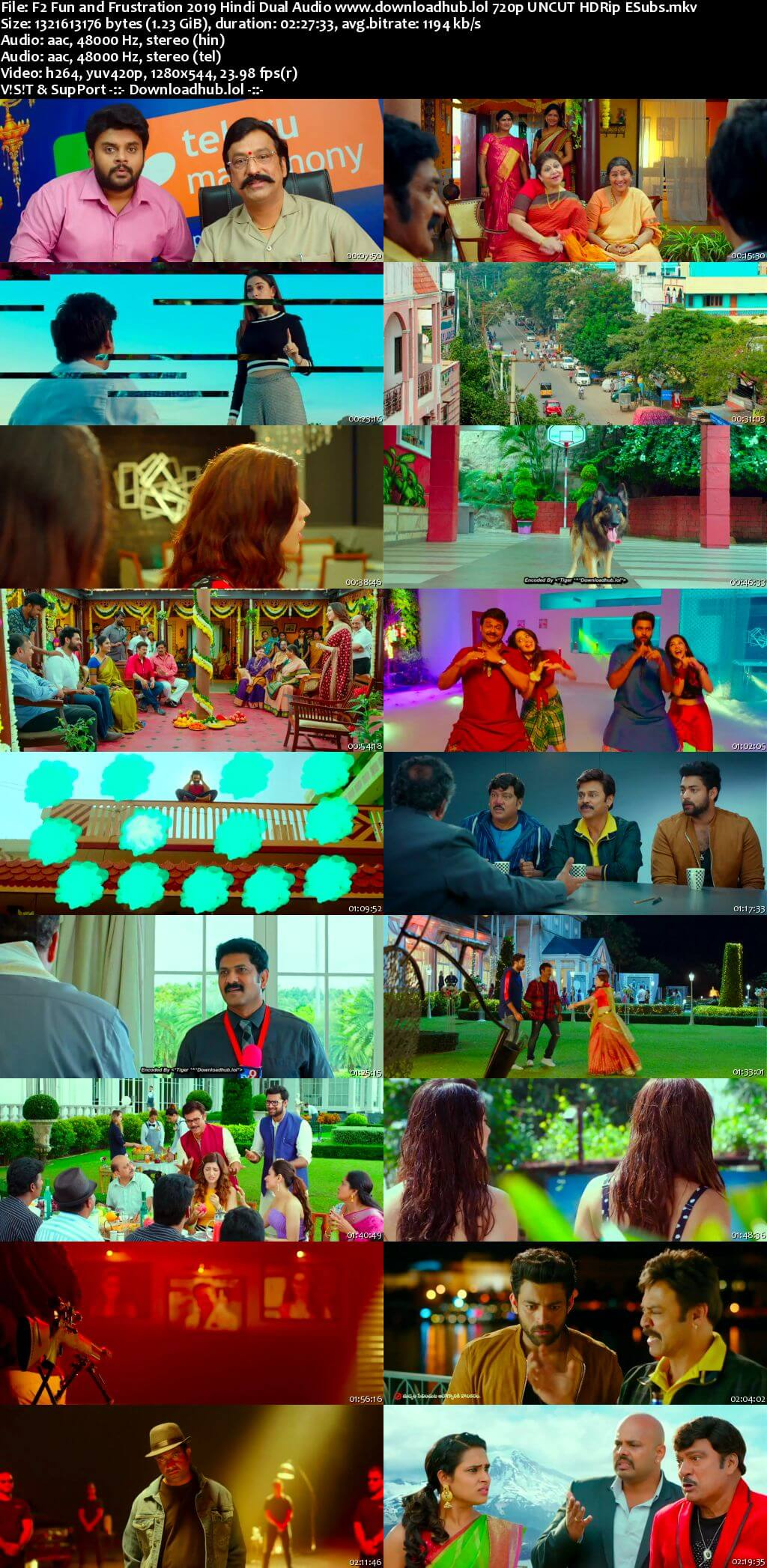 F2 Fun and Frustration 2019 Hindi Dual Audio 720p UNCUT HDRip ESubs