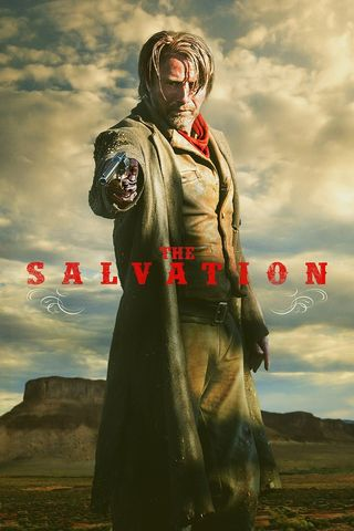 Poster of The Salvation 2014 Full Hindi Dual Audio Movie Download BluRay Hd 720p