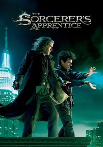 Poster of The Sorcerer's Apprentice 2010 Full Hindi Dual Audio Movie Download BluRay Hd 720p