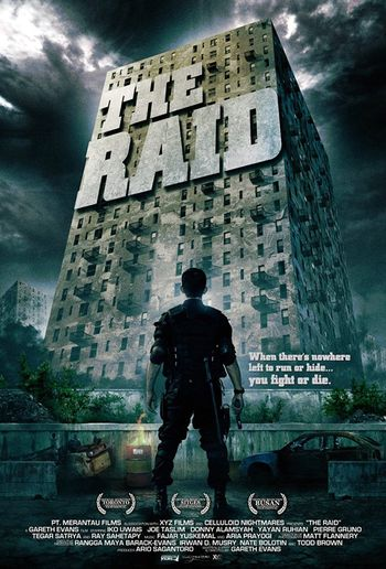 Poster of The Raid: Redemption 2011 Full Hindi Dual Audio Movie Download BluRay Hd 720p