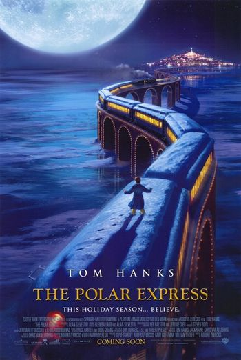 Poster of The Polar Express 2004 Full Hindi Dual Audio Movie Download BluRay Hd 720p