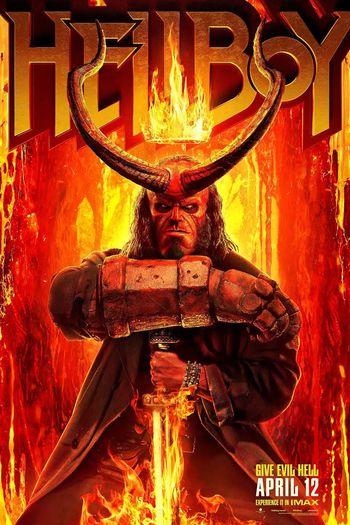 Poster of Hellboy 2019 Full Hindi Dual Audio Movie Download BluRay Hd 720p