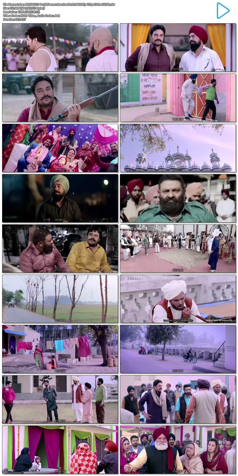 Lukan Michi 2019 Punjabi 650MB HDRip 720p ESubs HEVC