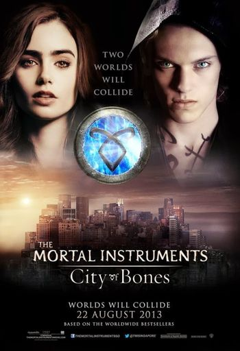 Poster of The Mortal Instruments: City of Bones 2013 Full Hindi Dual Audio Movie Download BluRay Hd 720p