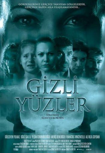 Poster of Gizli Yuzler 2014 Full Hindi Dual Audio Movie Download HDRip Hd 720p