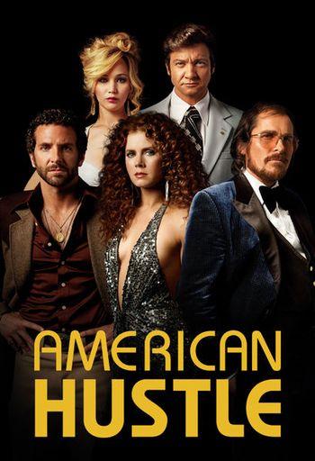 Poster of American Hustle 2013 Full Hindi Dual Audio Movie Download BluRay Hd 720p