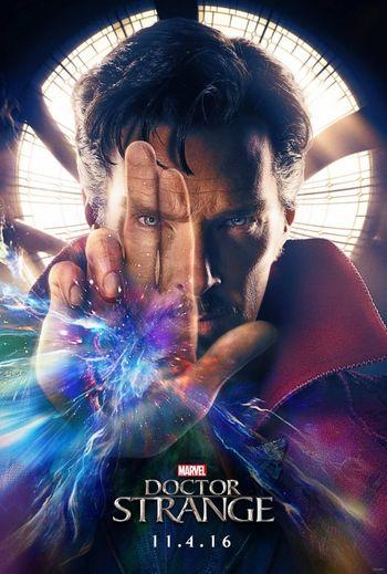 Poster of Doctor Strange 2016 Full Hindi Dual Audio Movie Download BluRay Hd 720p