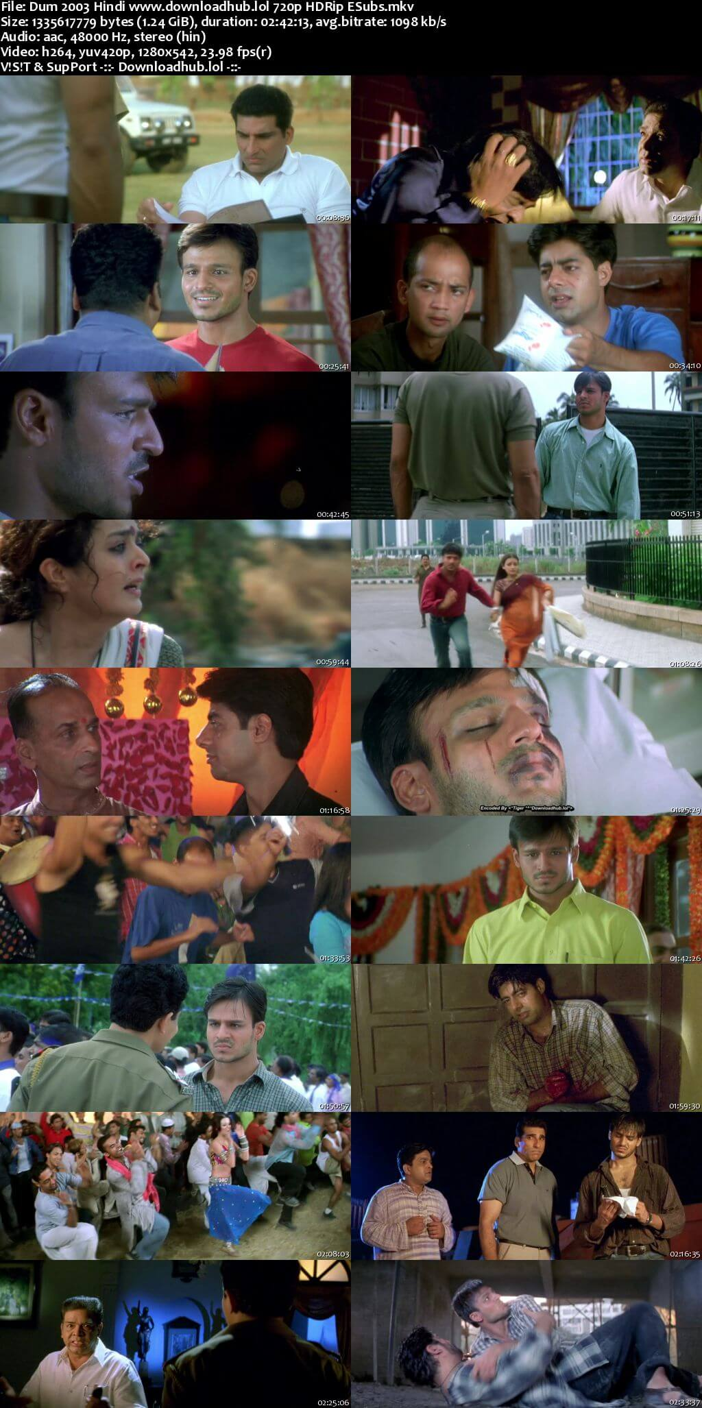 Dum 2003 Hindi 720p HDRip ESubs