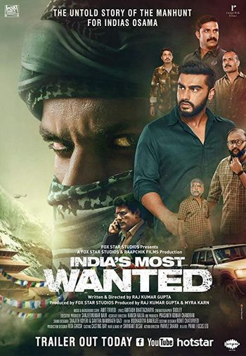 Poster of Indias Most Wanted 2019 Full Hindi Free Download Watch Online In HD Movie Download 480p HDRip