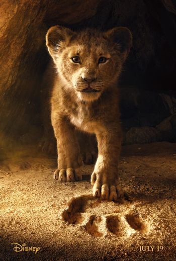 Poster of The Lion King 2019 Full Hindi Free Download Watch Online In HD Movie Download 480p HDCAM