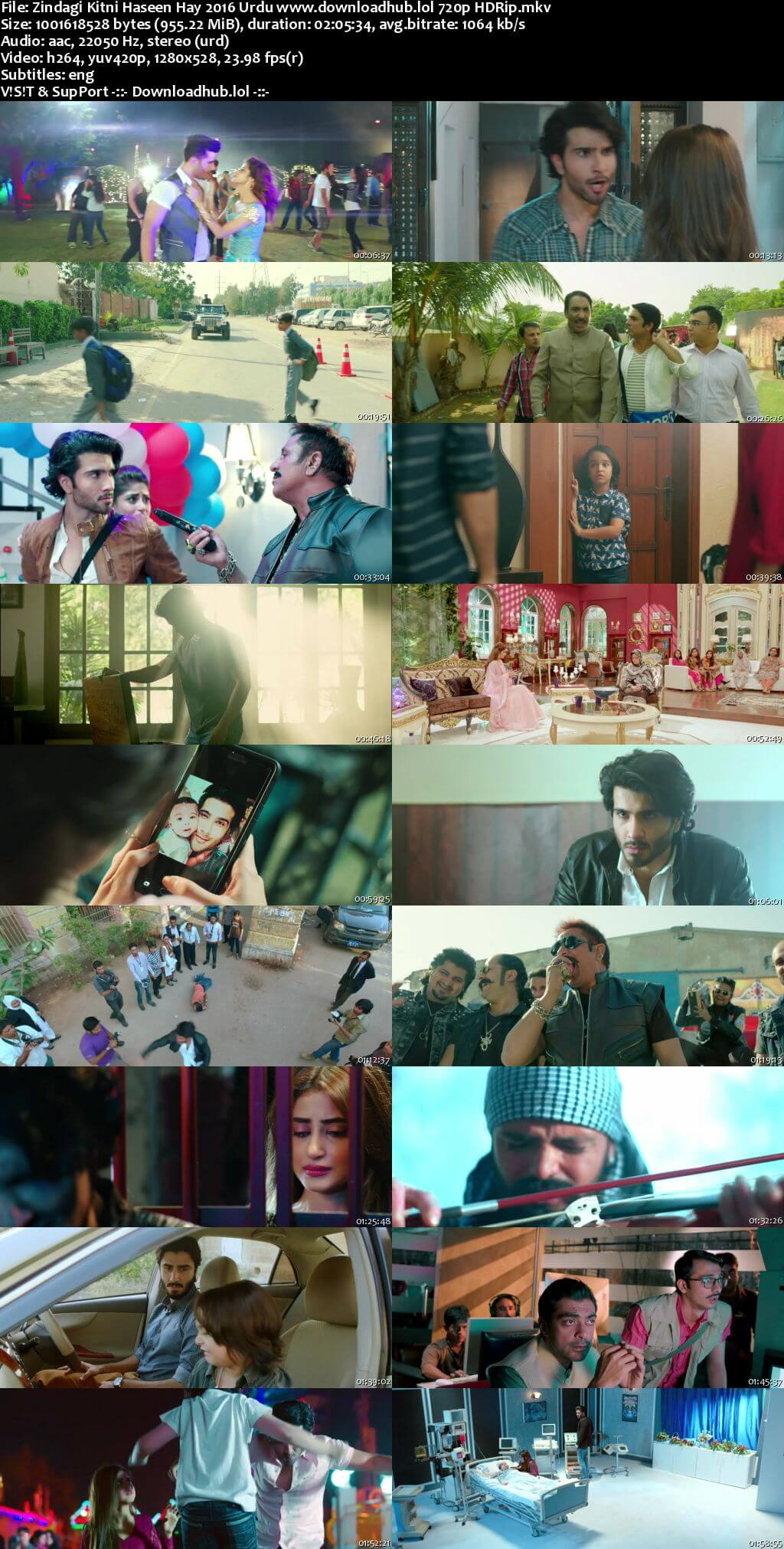 Zindagi Kitni Haseen Hay 2016 Urdu 720p HDRip ESubs