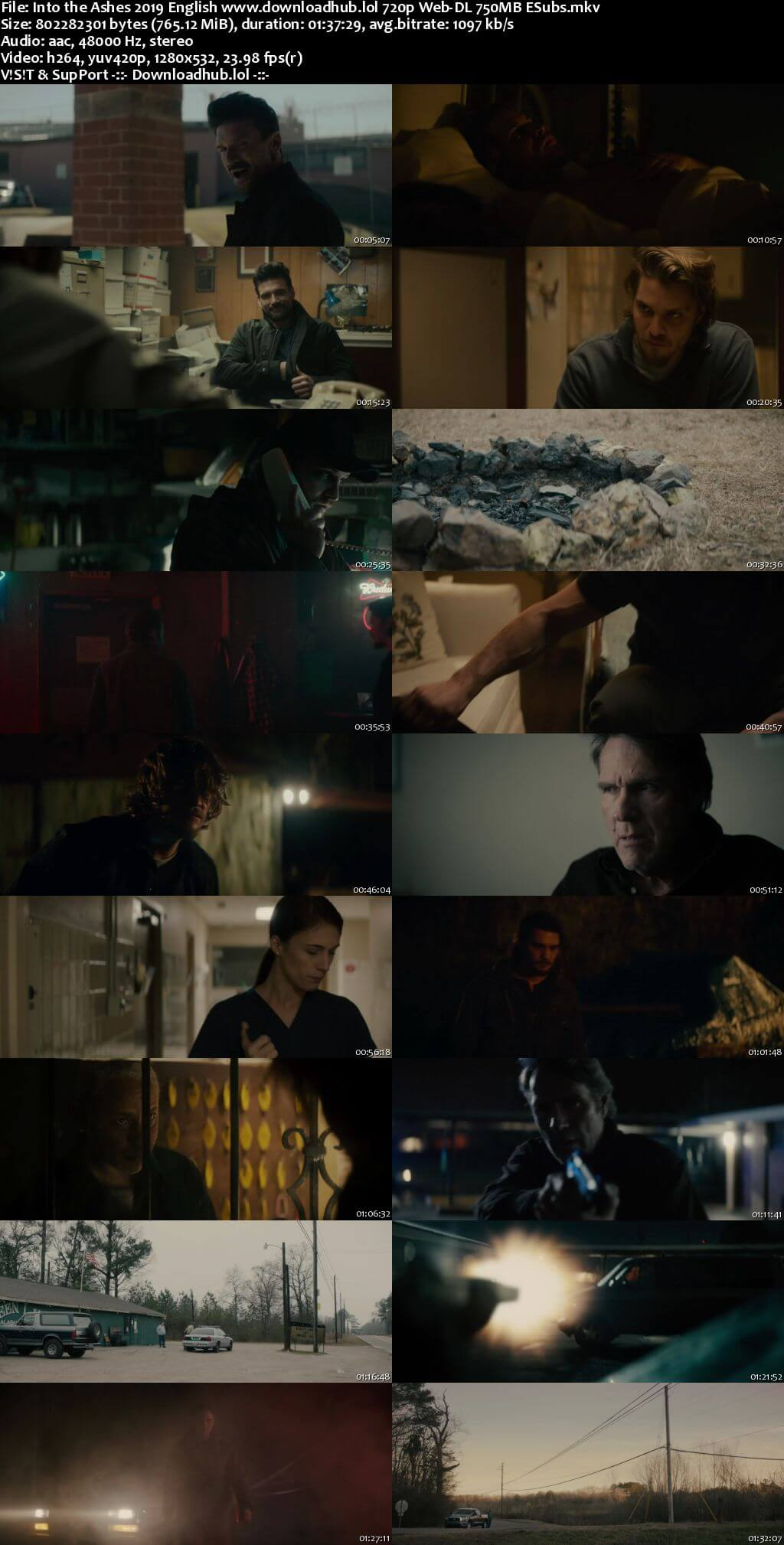 Into the Ashes 2019 English 720p Web-DL 750MB ESubs